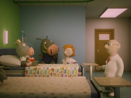 Met wrattenzwijntje Obbe naar het ziekenhuis