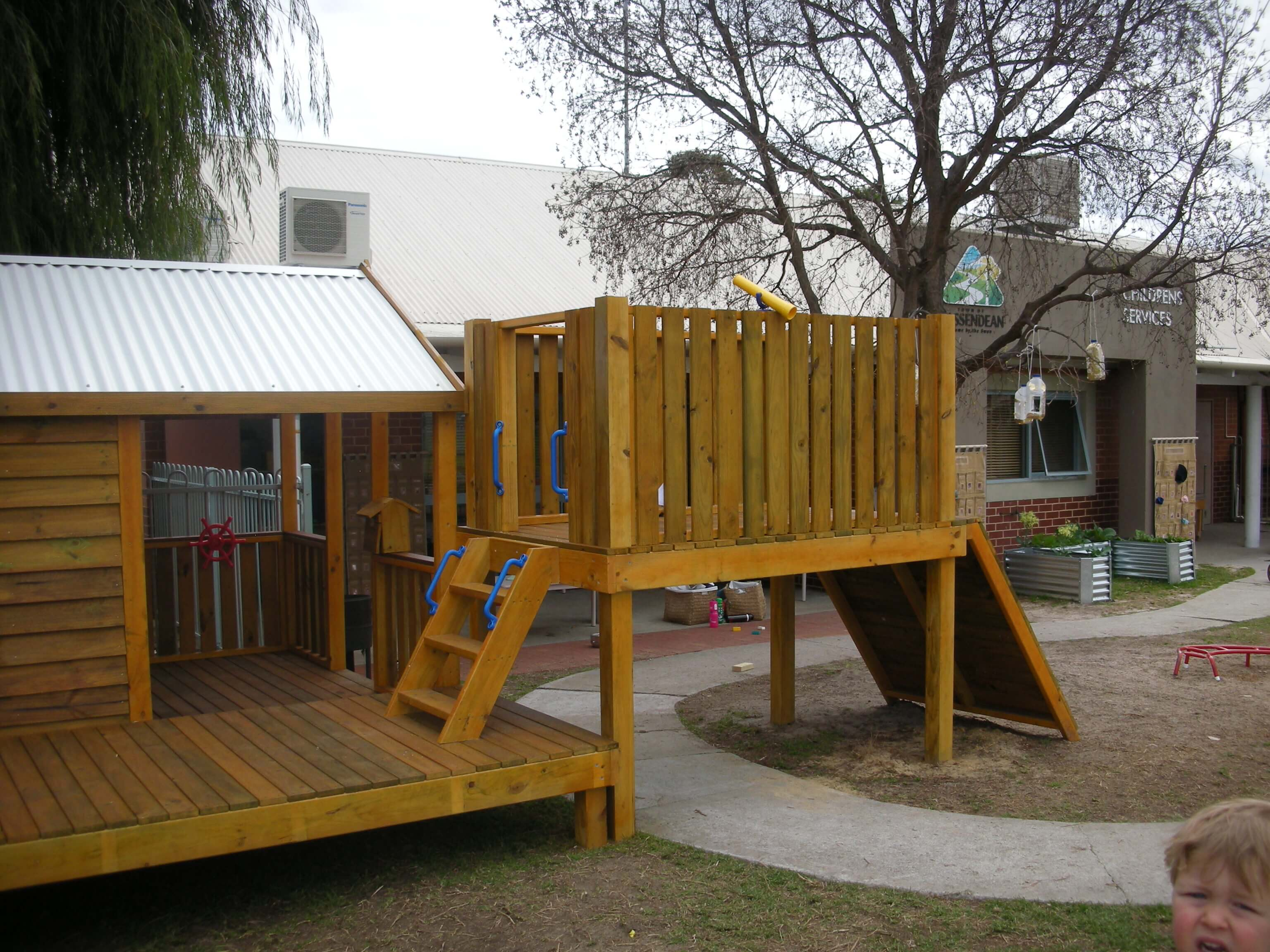 Custom Fort with Cubby  For Your Backyard