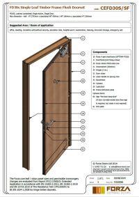 Forza Doors | FD30 Single Leaf Timber Frame Flush Doorset