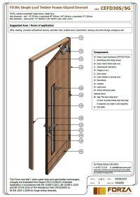 Door Leaf & Black Interior Door With A Black Integrated ...