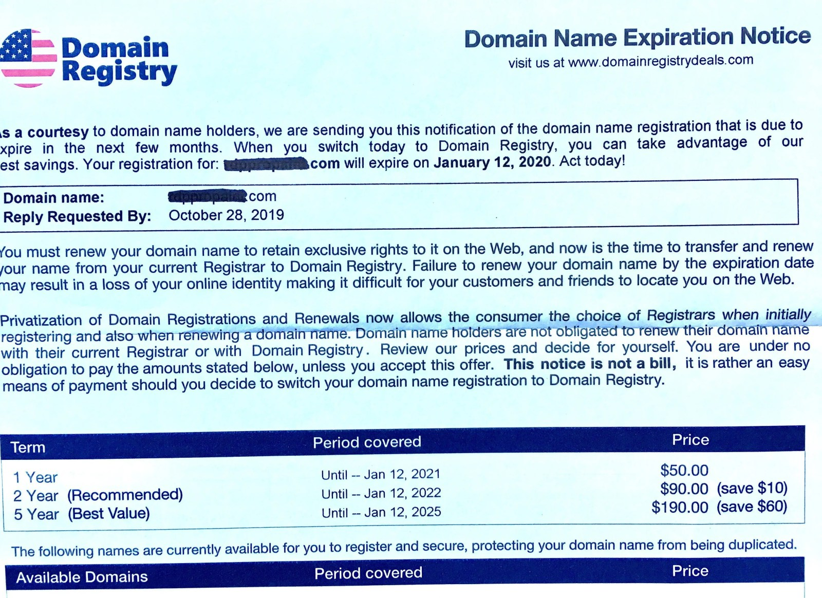 domain registry
