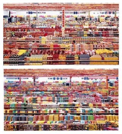 Andreas Gursky, 99 Cent II Diptychon (2001)