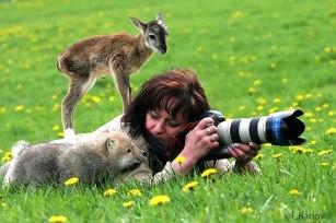 Minha mãe disse pra você me ensinar a fotografar!