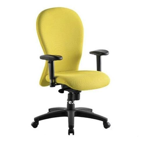 yellow office chair baby vibrating argos ergonomic desk chairs swivel fabric computer