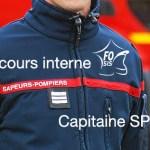 Concours interne de capitaine de sapeurs-pompiers professionnels.
