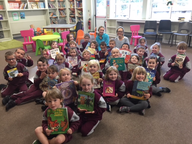 Our first visit to the school library