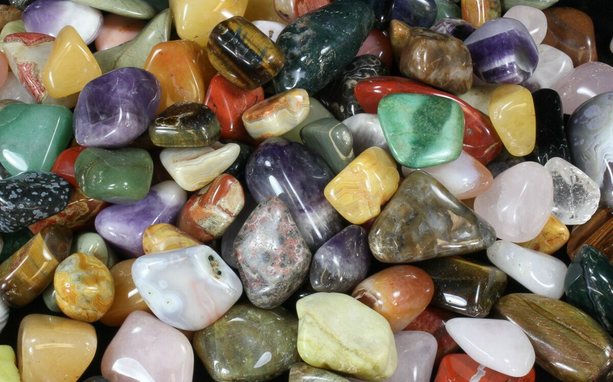 Bulk Mixed Polished Minerals  16 ounces  30pc For Sale  FossilEracom