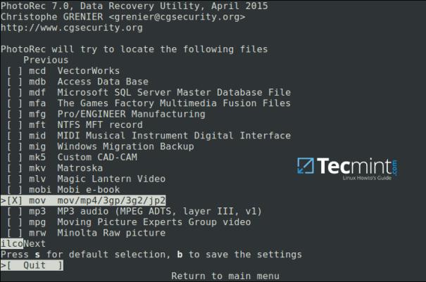 PhotoRec - Ferramenta de Recuperação de Dados