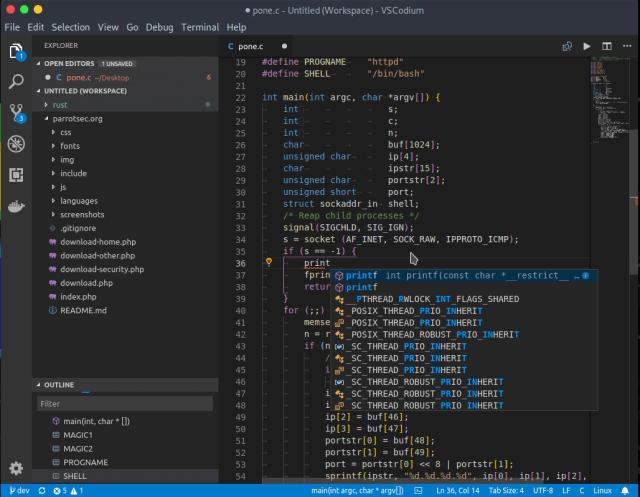 VSCodium - Clone of Microsoft's Visual Studio Code