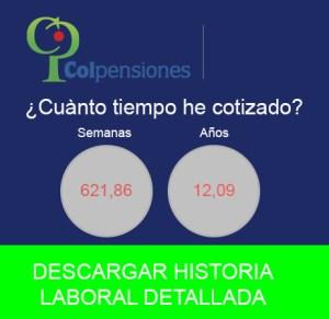 Descargar historia Colpensiones