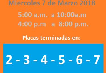 imagen de un carro con los números de pico y placa medellín para el día lunes