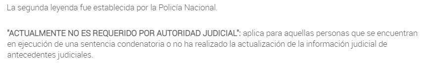 no es requerido por autoridad judicial
