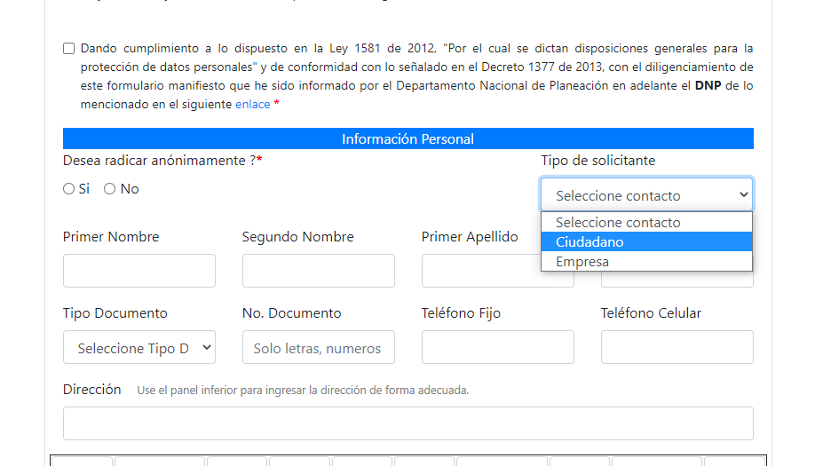 sisbén encuesta formulario