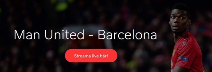 Streama Manchester United FC Barcelona live stream gratis? Se Man United Barcelona stream hos Viaplay!
