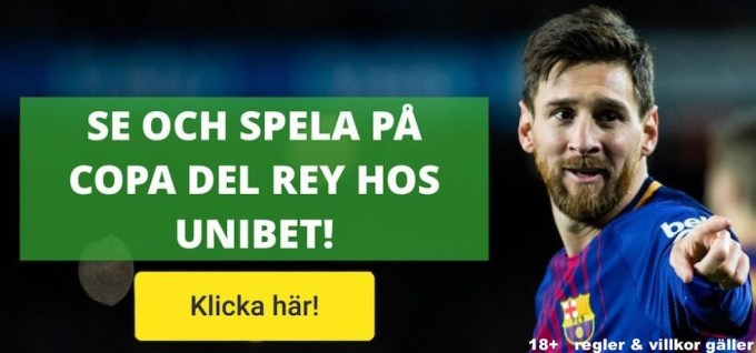 Copa del Rey på TV: se Spanska Cupen på TV, TV-tider, spelschema, resultat!