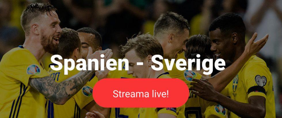 Sverige-Spanien-stream