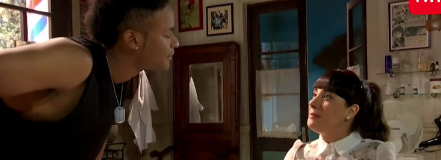 """Cuando """"Un Diablo Con Ángel"""" conoció a """"La Colombiana"""": Blanca se sometió a un cambio de look con James"""