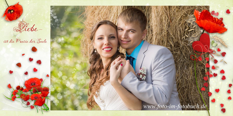 Hochzeitsfotobuch im Rot  Willkommen in der Welt der Fotobcher