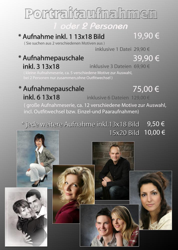 Preise  Fotoatelier Kettenbach