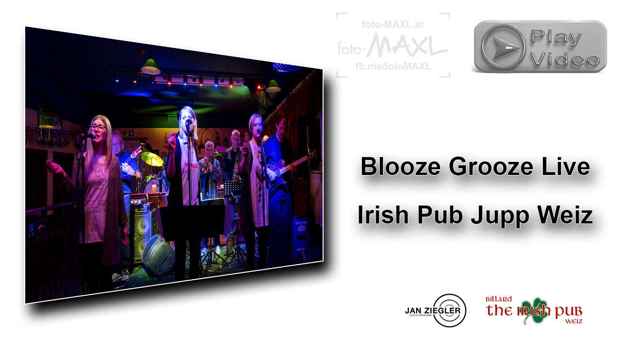 YouTube Video Blooze Grooze Live Irish Pub Jupp Weiz