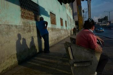 Street scene in the morning. Habana Vieja, November, 2013