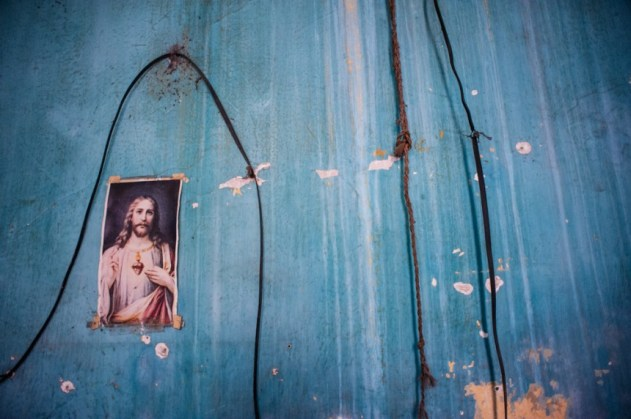 Catholic icons and images adorn the walls of most homes in Cuba.