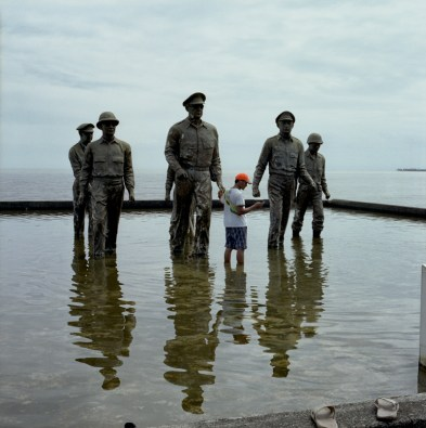 The Leyte Landing Memorial in Red Beach, Palo, Leyte. January 5, 2014