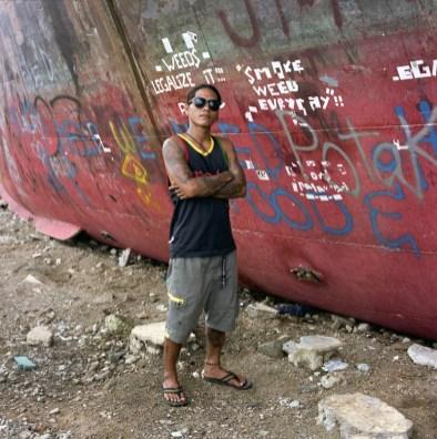 Lesley (23), a member of Batang Samar Leyte (BSL), a local gang has all of his belongings swept away during the typhoon. Anibong, Tacloban. January 5, 2014.