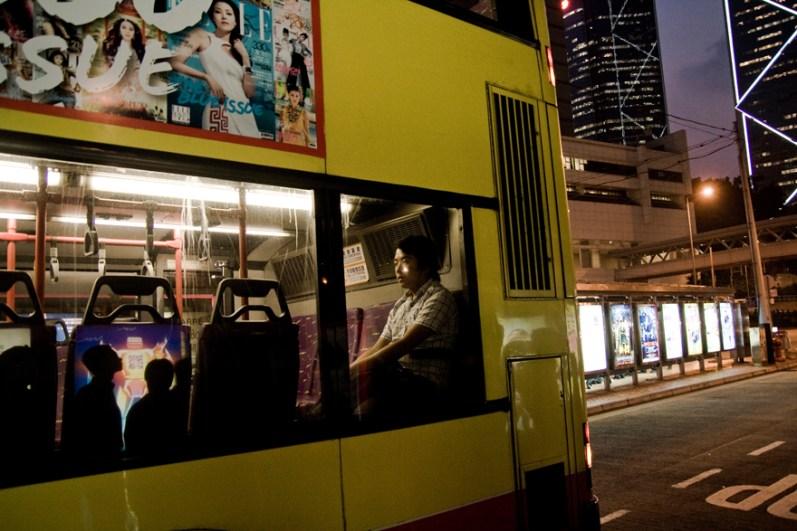 hong Kong, double-decker bus.