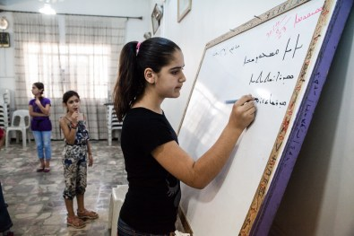 For the past year the local administration has allowed Syriac to be taught in school. The church organised this summer school for the children.