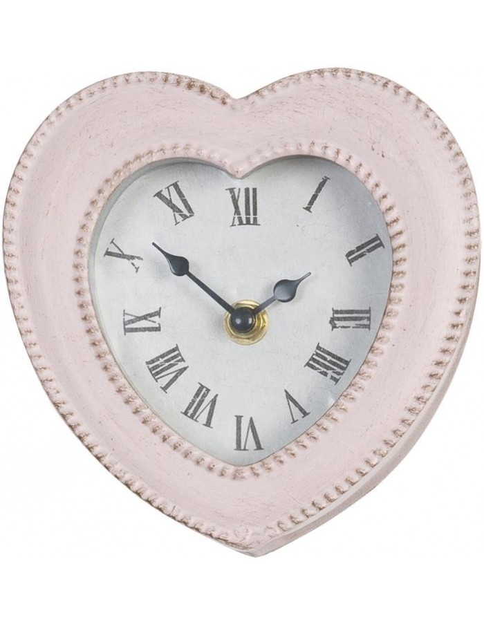 heart shaped clock with