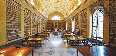 Sala M Luigia Bilblioteca Palatina Libro Università di Parma Un millenio di storia per MUP Ed