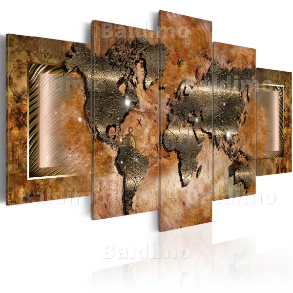 Large World Map Canvas Wall Art