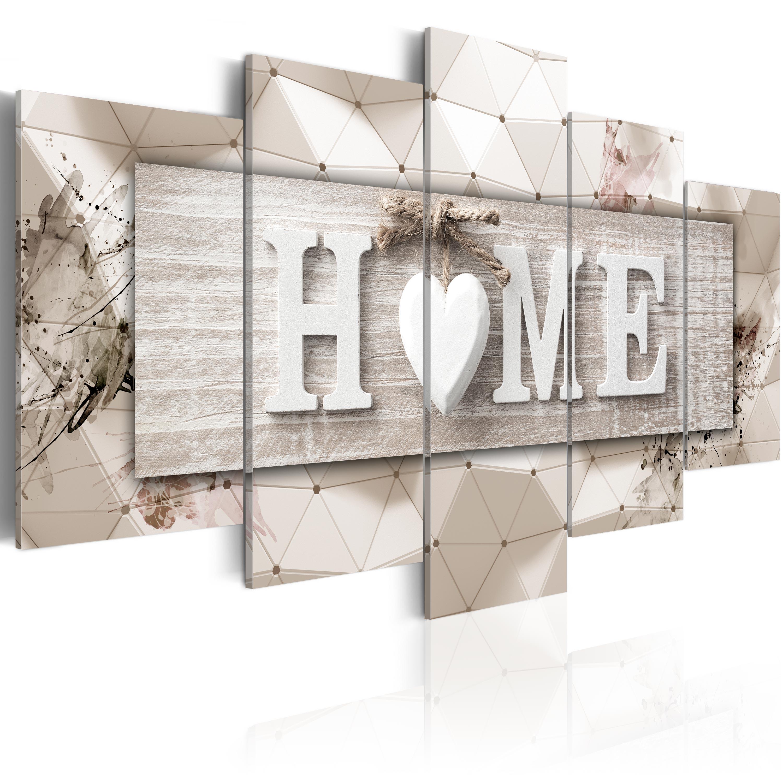 Wandbilder xxl Wohnzimmer Home Herz abstraktes Leinwand Bilder 3D mC0251bn  eBay
