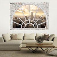 3D WALL ILLUSION WALLPAPER MURAL PHOTO PRINT A WINDOW VIEW ...