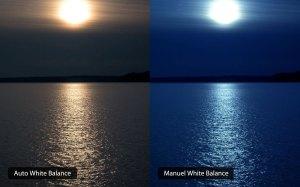 左邊為自動白平衡,右邊為手動白平衡 (點擊放大)