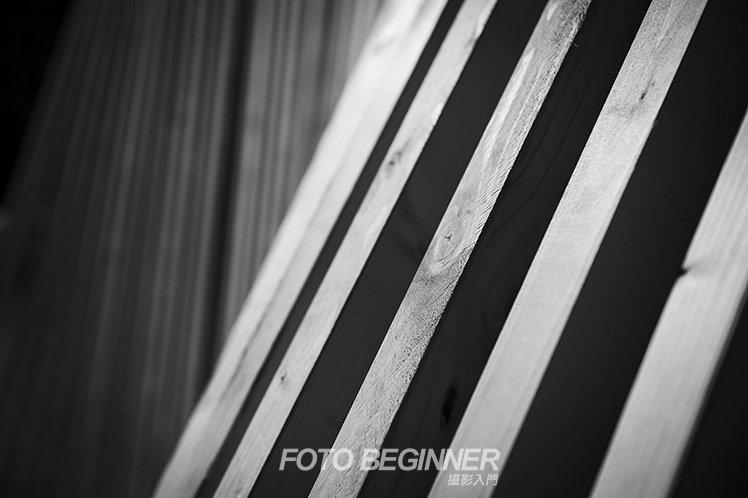 高對比的黑白照可以突顯相片的線條。