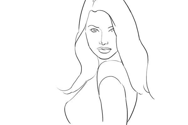 (1) 很好的開始pose,而且可以令 model 拍起來更瘦。留意 model 應該把臉稍稍向前傾和朝下一點(但不要過量),記得在下巴和膊頭留一點空間。