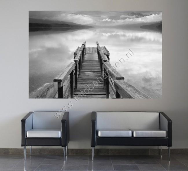 Muurposter Infinity  Zwart Wit behang  Fotobehangennl