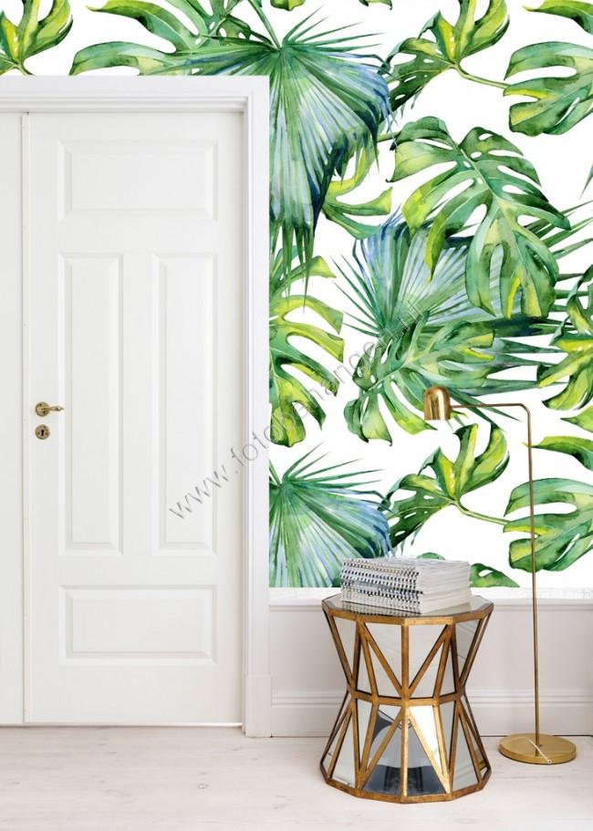 Vlies fotobehang Tropische bladeren  Fotobehangennl