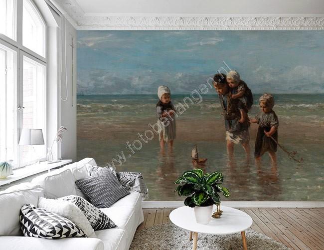 Vlies fotobehang Kinderen der zee  Fotobehangennl