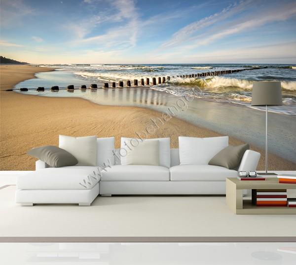 Vlies fotobehang Verlaten strand  Fotobehangennl