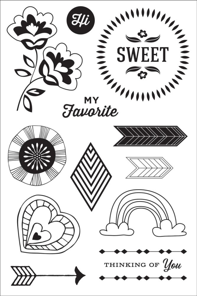 Sweet You Hero Arts Stamps made for Basic Grey Vivienne