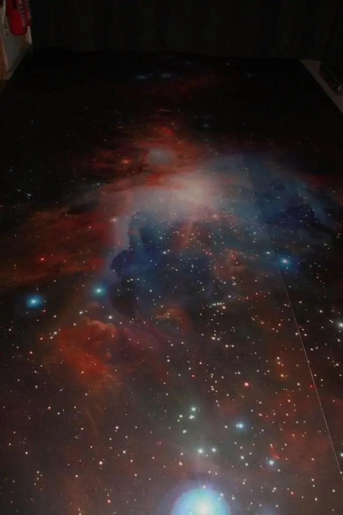 Sternenhimmel am Boden  Fotobodende