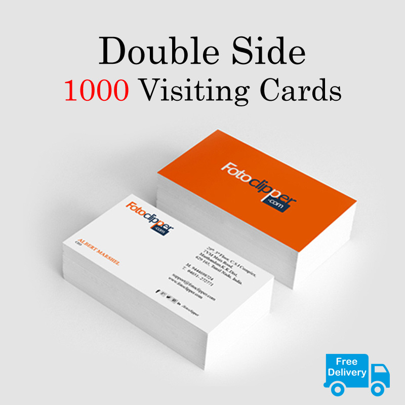 Double Side 1000 Visiting Cards - FotoClipper
