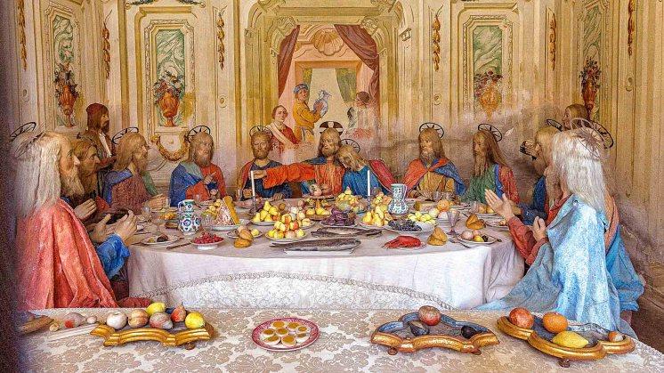 Kapelle bestand bereits zu Zeiten von Frater Bernardino Caimi (16. Jh.) und wurde in das heutige Gebäude inbezogen. Statuen von unbekannten Meistern und Fresken von A. Orgiazzi