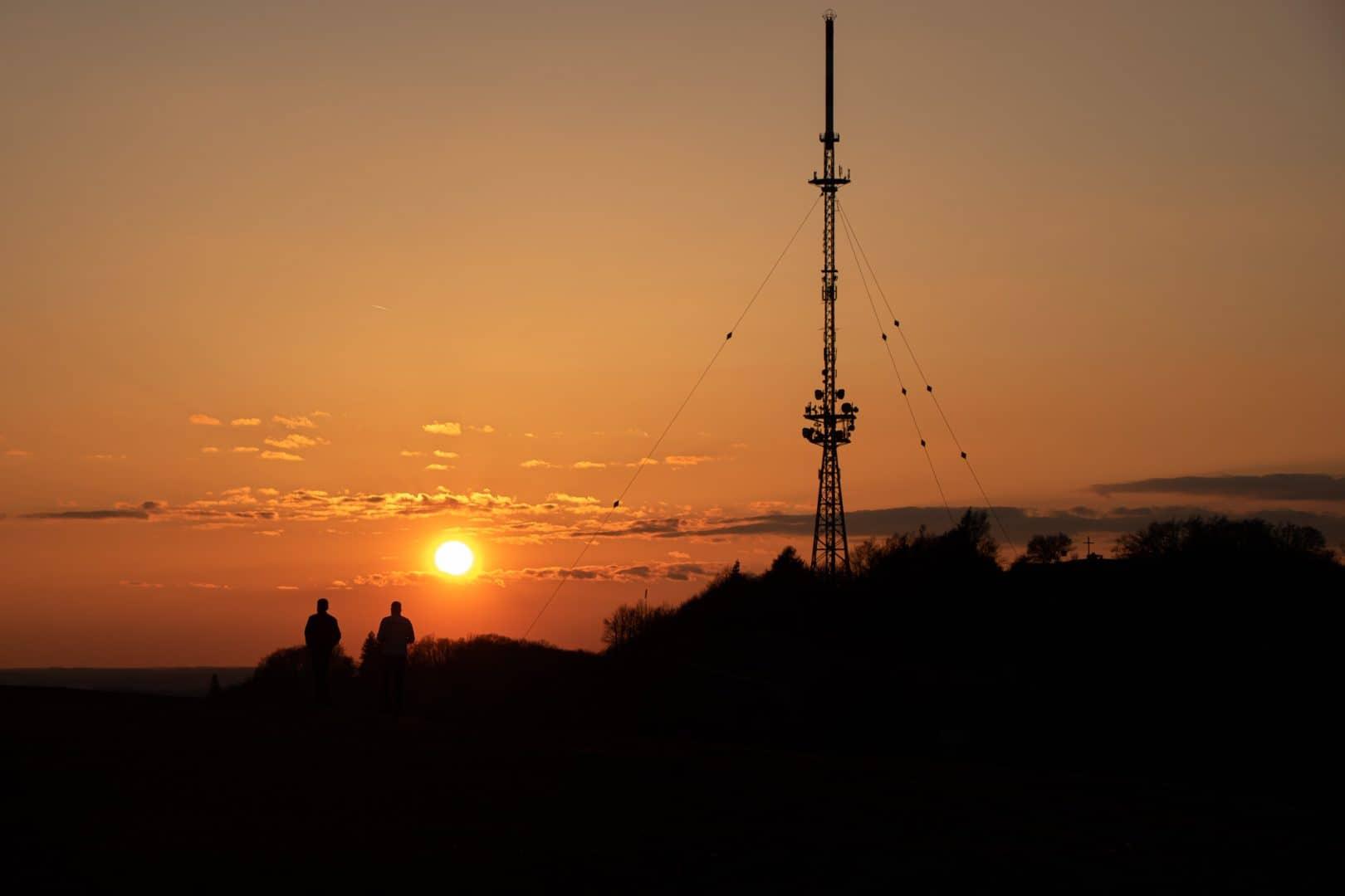Sonnenuntergang am Hesselberg - von Andrea Seiss