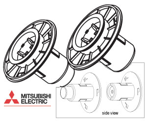 Mitsubishi Set of Two Paper Flanges for the CPD70DW and