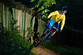 Dietmar beim Wallride mit dem Moutainbike