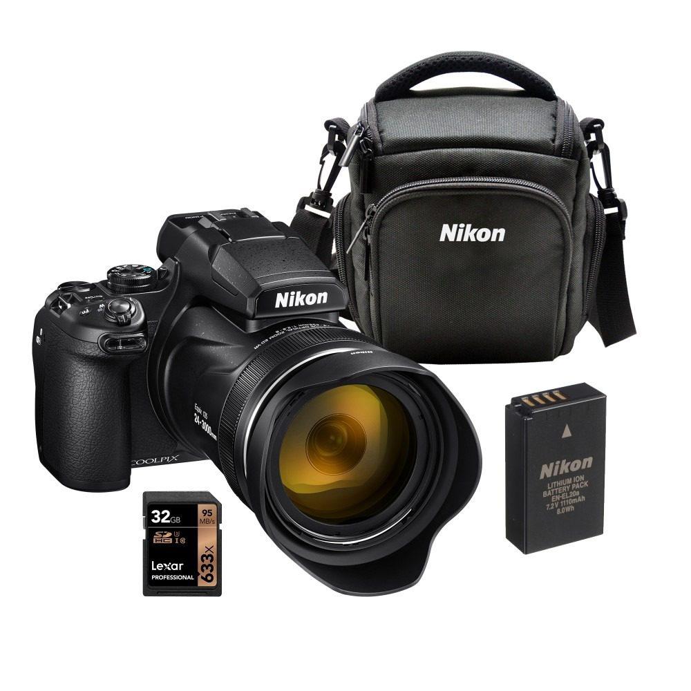 Nikon Coolpix P1000 Camera Bundle (Battery+Bag+32GB SD card)